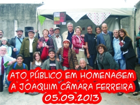 Ato Público em Homenagem a Joaquim Câmara Ferreira