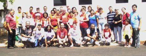 Os delegados da Região Brasilândia, para o 13º Intereclesial das CEBS. PJ presente na caminhada!