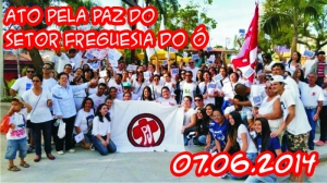 Ato pela Paz do Setor Freguesia do Ó - 07.06.2014