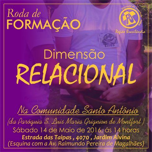 Roda de Formação - Dimensão Relacional, 14.05.2016